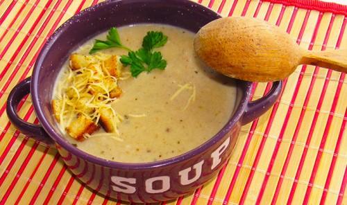 Грибной суп-пюре с шампиньонами