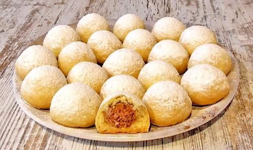 Песочное печенье с кокосовой стружкой и джемом