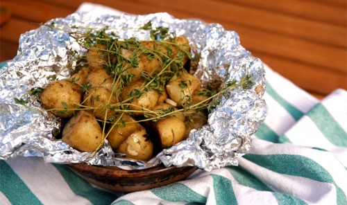 Картошка в фольге для пикника