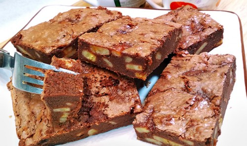 Шоколадно-банановый пирог «Брауни»