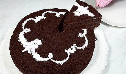 Постный шоколадный торт на кокосовом молоке