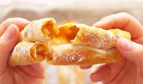 Трубочки с яблочной начинкой «Роллини»