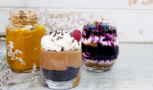 3 летних десерта в стаканах