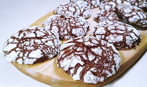 Мраморное шоколадное печенье «Трещинки»