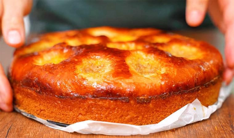 Дрожжевой пирог с банановой начинкой