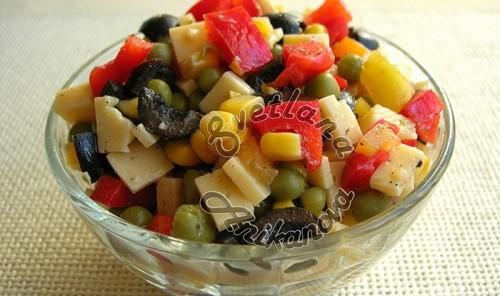 Новогодний салат «Конфетти»