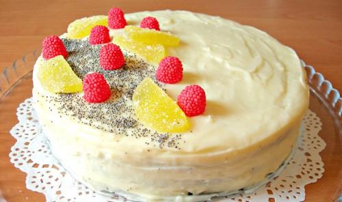 Торт из маковых коржей