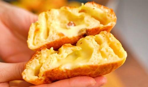 Творожные булочки с заварным кремом