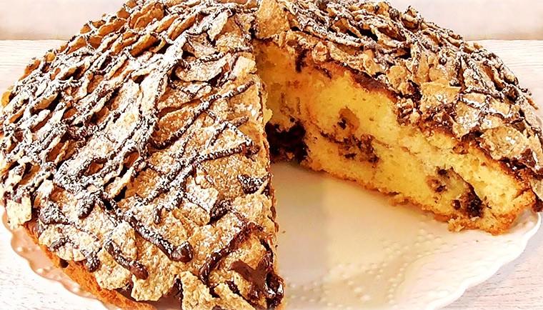 Итальянский пирог в шоколадной глазури