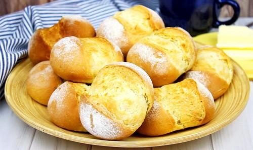 Хлебные булочки без яиц