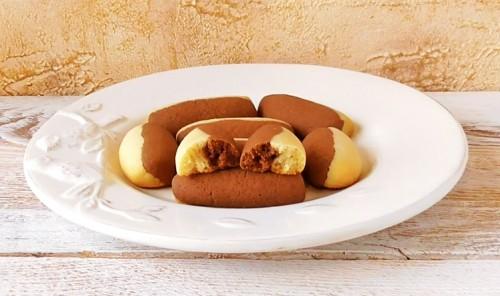 Сливочно-шоколадное песочное печенье