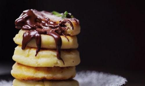 Сырники с шоколадной пастой