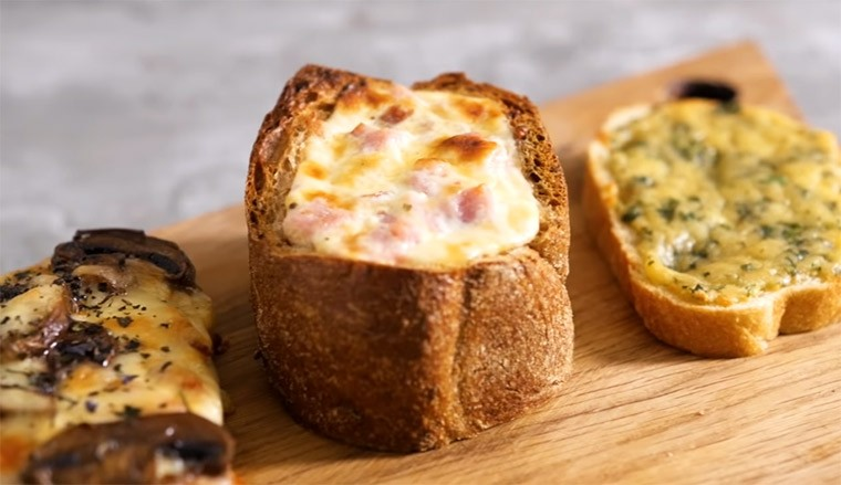 3 горячих бутерброда с разными вкусами