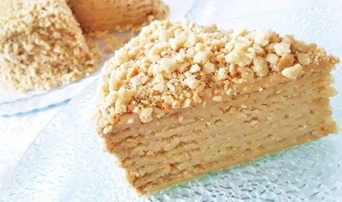 Торт «Арахисовая коровка»