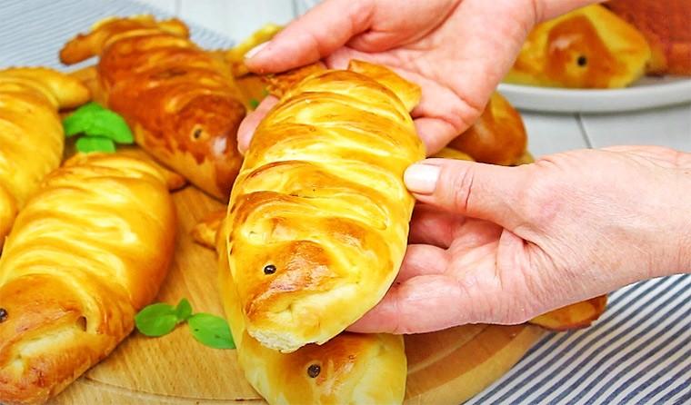 Пирожки с рыбой и картошкой в духовке