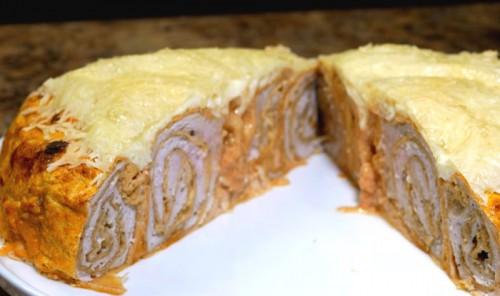 Куриный пирог в духовке