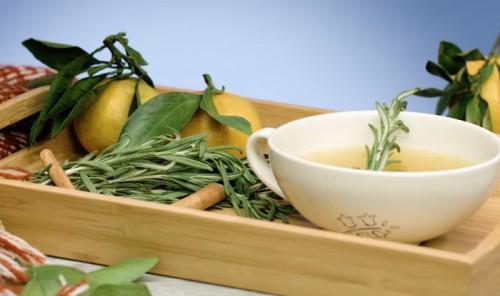 Мандариновый чай с облепихой