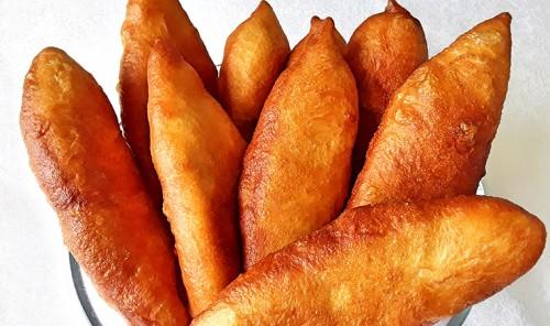 Жареные пирожки с картофелем и печенью