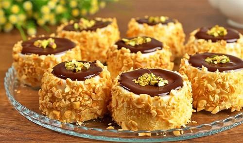Молочный десерт с орешками без желатина
