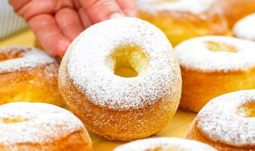 Пышные пончики в духовке