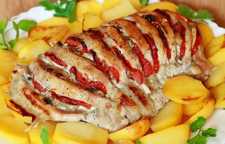 Фаршированное мясо для новогоднего стола
