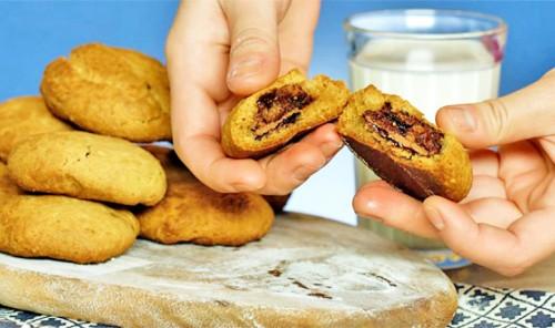 Печенья с шоколадно-ореховой пастой