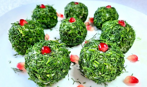 Закусочные шарики с сельдью, картофелем и яйцами