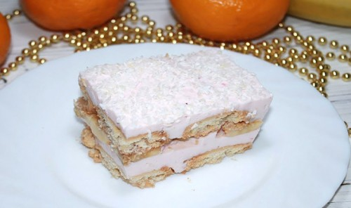 Торт из песочного печенья «Розовый Фламинго»