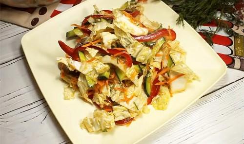 Салат с мясом и пекинской капустой