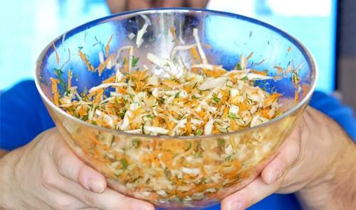 Салат с капустой для похудения