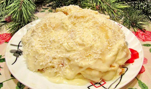 Новогодний торт «Снежный сугроб»