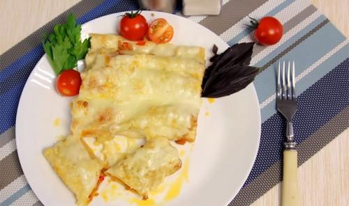 Фаршированные макароны в духовке (Каннелони)