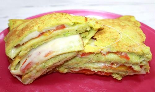 Закуска из кабачков с сыром и помидорами