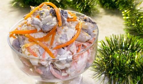 Новогодний салат «Корейчанка»