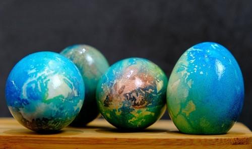 Пасхальные яйца «Планета Земля»