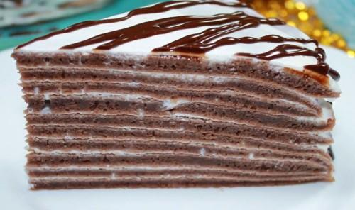 Торт без выпечки на сковороде