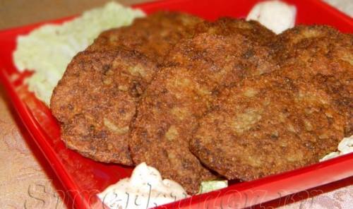 Печеночные оладьи из говяжьей печени