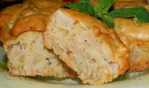 Яблочные кексы с кокосовым ароматом