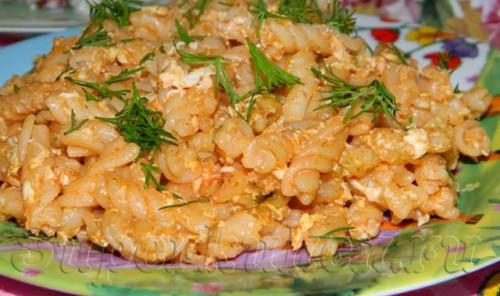 Макароны с яйцами по-кавказски