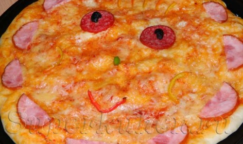 Детская пицца с ветчиной