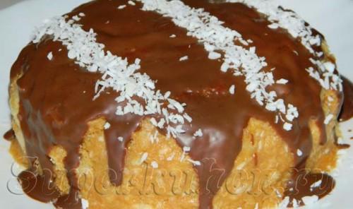 Десерт из кукурузных палочек и вареной сгущенки