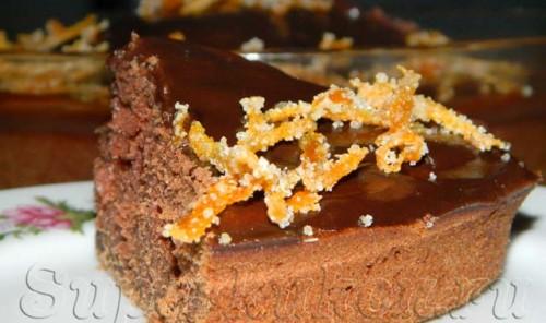 Быстрый шоколадный торт с шоколадной глазурью