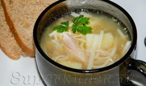Суп из индейки с домашней лапшой