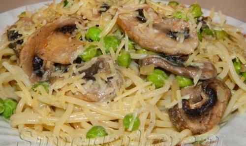 Сливочно-грибной соус к спагетти