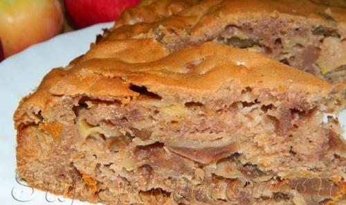 Яблочный пирог с какао в мультиварке