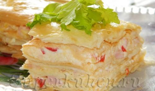 Закусочный слоеный тортик