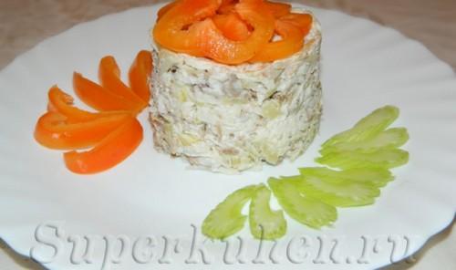 Салат из мяса и редьки