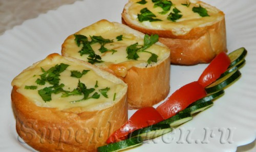 Фаршированные бутерброды на завтрак