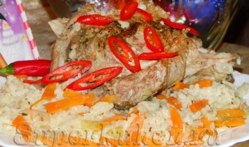 Баранина с рисом и овощами
