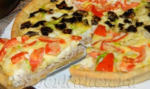 Пирог-пицца с фаршем